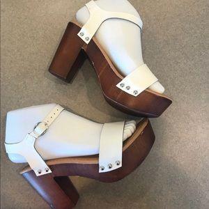 Madden Girl White Heels Read description for size